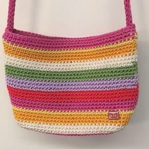 The Sak striped summer crocheted shoulder bag
